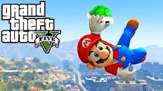 GTA 5 - SUPER MARIO ODYSSEY (Best Parkour Fails, Highest Jumps, Prison Break, GTA V PC MODS)
