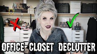 Office Closet Declutter & Organization