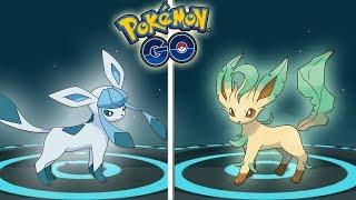 Leafeon  - (Pokémon) - ¡COMO CONSEGUIR A LEAFEON y GLACEON en POKÉMON GO! EVOLUCIONES 100% IV! [Keibron]