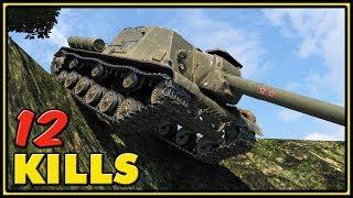 ISU-152 - 12 Kills - 1 VS 4 - World of Tanks Gameplay