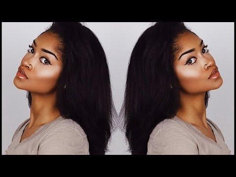 CURLY TO STRAIGHT HAIR TUTORIAL | Bri Hall