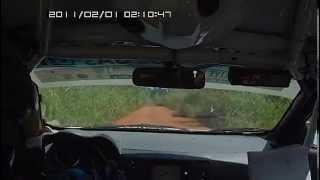 preview picture of video 'Camera embarquée ES 3- Rallye du N'ZI Dimbokro 2014'