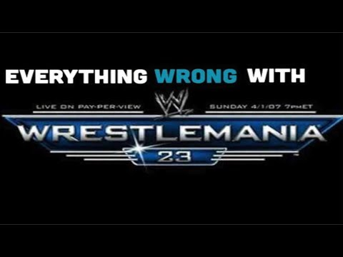 episode 325 everything wrong with wwe wrestlemania 23