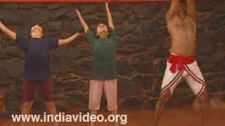 The Kalari guru trains little disciples