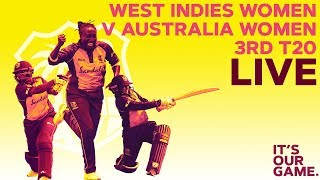 🔴LIVE Windies Women vs Australia Women | 3rd T20 2019