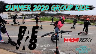 BAESK8 PEV Group Ride Summer 2020 Zero 10x Electric Scooter | GoPro Hero 7 RAW FPV Bodycam Footage