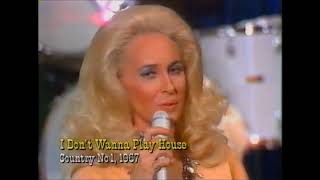 Tammy Wynette sings I DON'T WANNA PLAY HOUSE live on Navy Hoedown