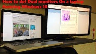 How To Setup Dual Monitors On a Laptop(Windows 10)