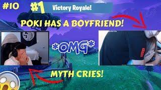 POKI HAS A BOYFRIEND *MYTH CRIES* (Fortnite Stream Highlights)