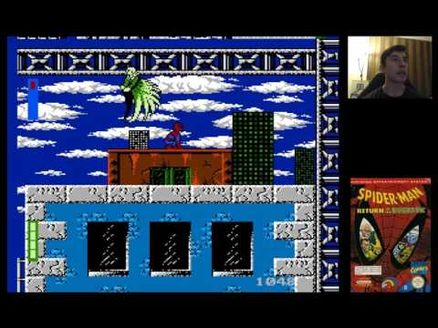 Spider-Man: Return of the Sinister Six (1992) for NES - 4/6 - Stage 4 Vulture