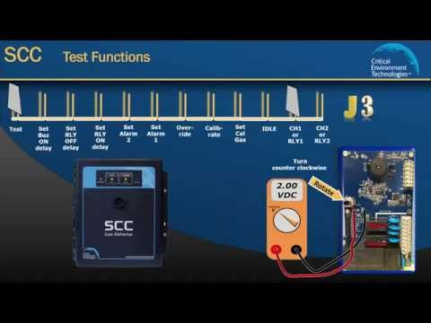 How to Set SCC Alarm Set Points, Relay & Test Functions