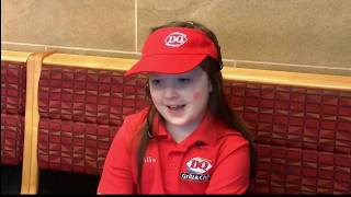 Little Girl's Wish To Work at Dairy Queen