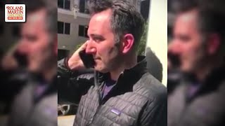 Son Begs Father Not To Call Cops On A Black Man For Standing Outside A Building Waiting For A Friend