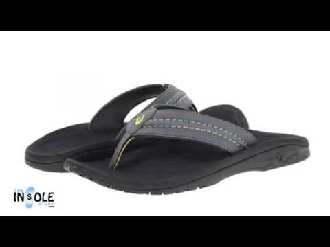 Olukai Hokua Charcoal & Dark Shadow Sandals for Men @TheInsoleStore.com