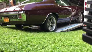 "1970 Chevelle 468ci 3"" exhaust open cutouts nasty"