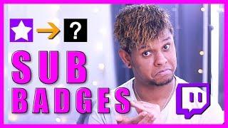 Twitch Sub Badges   Affiliate  Partner