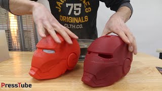 Casting Color Changing Iron Man Helmet - Video Youtube
