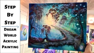 Magical Forest STEP By STEP Acrylic Painting Tutorial (CBF Presents)