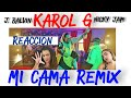Karol G x J. Balvin x Nicky Jam - Mi Cama Remix [REACCION]