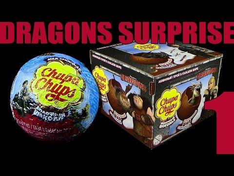 Chupa Chups ® 2016 Dragons Schoko Kugeln Serie 2 mit Figur - Unboxing Teil 1