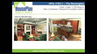 Pictures Of Traditional Country House Plans - HPG-1752-1 Video Walkthrough