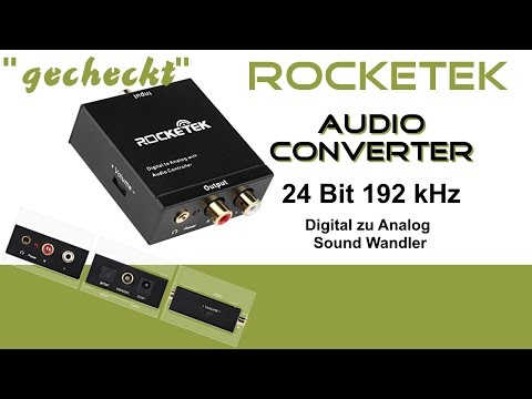 """gecheckt"" RockeTek Audio Converter Review Digital zu Analog Sound Wandler Deutsch"