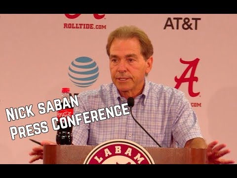 Nick Saban Press Conference from August 28, 2017