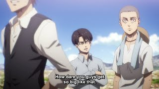 Levi gets mad cause everyone got taller than him