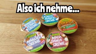 Rapunzel Cremes im Test | Kokos Mandel, Macadamia, Mandel, Mandel Tonka, Samba Haselnuss