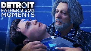 Hank Treats Connor Like His Son (Cole) FATHER & SON MOMENTS - DETROIT BECOME HUMAN