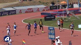 Angers 2019 : Finale 200 m Cadets (Sasha Zhoya en 20''81)