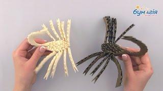 """Набор для творчества ЗD оригами """"Два скорпиона"""" 248 модулей от компании Интернет-магазин """"Радуга"""" - школьные рюкзаки, канцтовары, творчество - видео"""