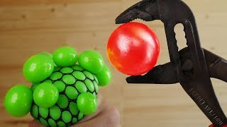 1000 DEGREE METAL BALL VS SLIME! 5 AWESOME EXPERIMENTS WITH RED HOT METAL BALL!