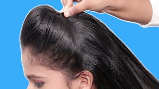 Simple Puff With French Bun Hairstyle || French Roll || French Twist Hairstyle || French Hairstyles