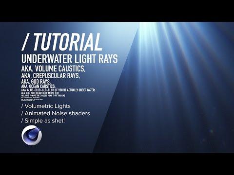 Creare raggi di luce sott'acqua