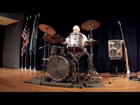 Lego Drum Set Informance Solo into Studio's Day O at HVCC 041317
