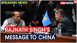 Defence Minister Rajnath Singh Calls Upon Countries To Resolve Differences Through Dialogue