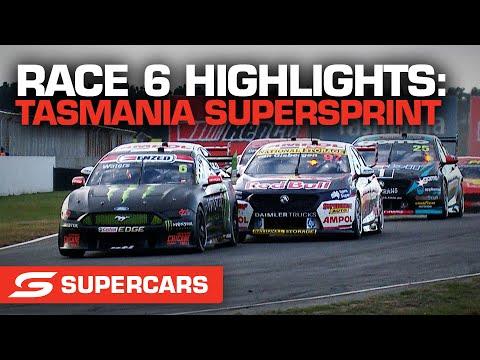 SUPERCARS 2021 タスマニアSuperSprint レース6ハイライト動画