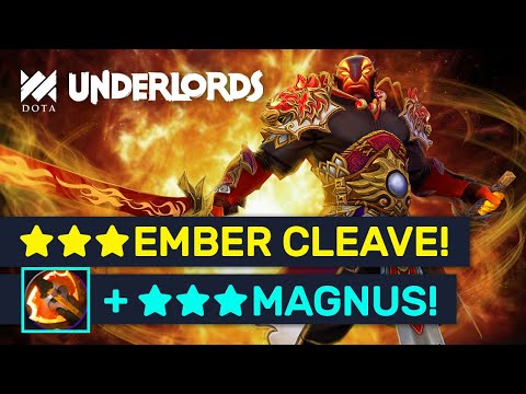 ★★★ BATTLE FURY Ember Spirit! Ultra Cleave With ★★★ Magnus! | Dota Underlords