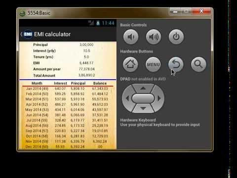 Video of EMI Calculator