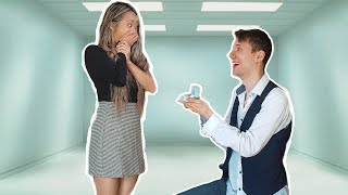 I PROPOSED in an ESCAPE ROOM Video