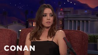 Aubrey Plaza Explains The Origins Of Her @EvilHag Handle  - CONAN On TBS