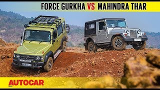 Force Gurkha Explorer vs Mahindra Thar CRDe | Comparison Test | Autocar