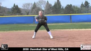 2020 Dannikah Star Shortstop Softball SkillsVideo