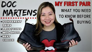 DR. MARTENS BOOTS | MY 1ST PAIR | WATCH THIS BEFORE BUYING YOUR FIRST PAIR | 5 STYLES - BEST CHOICE