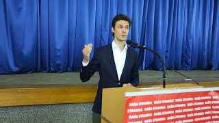 Boriša Falatar - obraćanje članovima GO Naše stranke u Cazinu