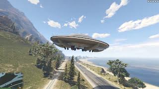 GTA 5 Mod - Ghost Rider cướp UFO quân đội lặn xuống biển