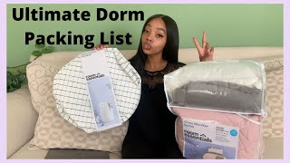 COLLEGE DORM ROOM ESSENTIALS LIST! Very Detailed (links Included) | College Series: Episode 5