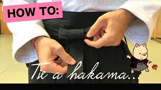 How To: Put On And Tie Hakama Pants