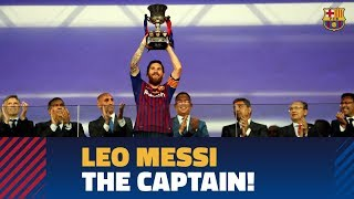Messi lifts a trophy for the first time as Barça captain